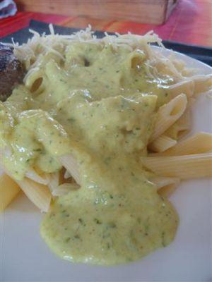 Recette Sauce courgette/curry pour servir avec des pâtes