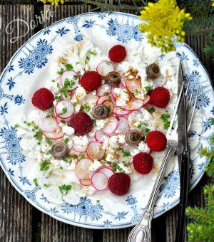 Recette Carpaccio de chou-fleurs et radis roses