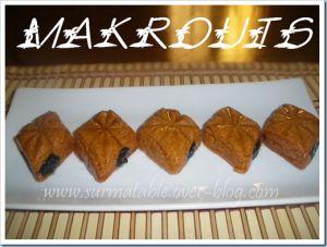 Recette Makrouts (losanges à la pate des dattes)
