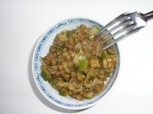 Recette Lentilles aux courgettes