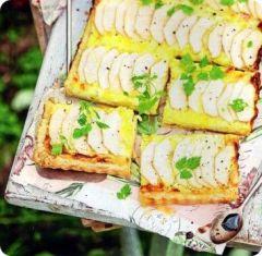 Recette Tarte au citron et aux poires