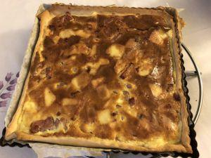Recette Tarte lardons gouda