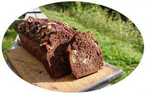 Recette Gâteau pêches, chocolat & noisettes
