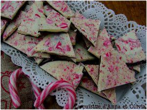Recette Peppermint candy bark / Friandise chocolat et sucre d'orge (recette de Noël)