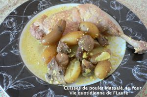 Recette Cuisses de poulet Massalé, au four