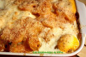 Recette Gratin de pommes de terre aux oeufs et poivron