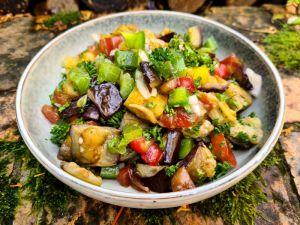 Recette Salade d'aubergine frite du Turkménistan (céto)