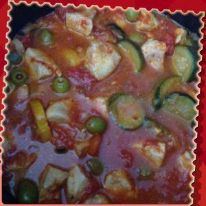 Recette Poulet courgette et olives Cookeo