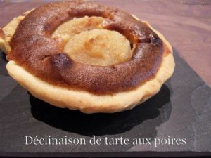 Recette Déclinaison de tartes aux poires