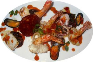 Recette Gambas et Fruits de mer au Chorizo
