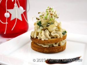Recette Crème d'artichaut aux langoustines et crevettes