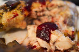 Recette Cuisses de poulet aux framboises