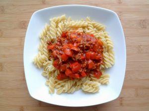 Recette Sauce pour pâtes poivrons rouges - boeuf