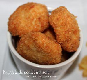 Recette Nuggets de poulet maison(recette facile,rapide,économique)