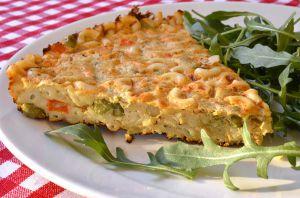 Recette Frittata de pâtes aux légumes