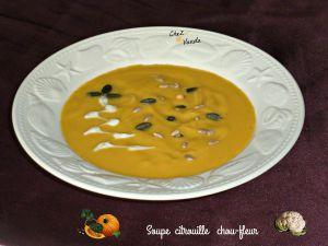 Recette Soupe citrouille et chou-fleur
