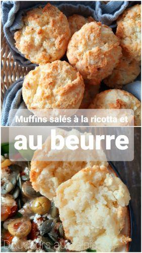 Recette Muffins salés à la ricotta et au beurre (4 ingrédients)