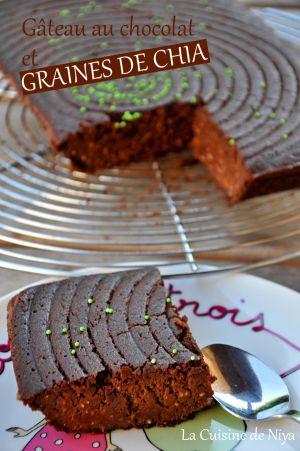 Recette Gâteau au chocolat et graines de chia [vegan]