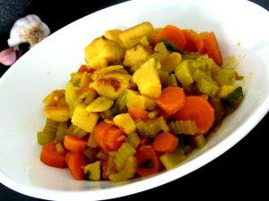 Recette Céleri carotte panisse a l'ail