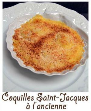 Recette Coquilles Saint-Jacques à l'ancienne