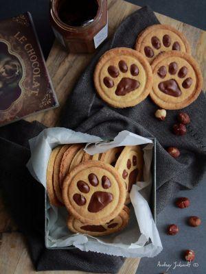 """Recette Biscuits choco-noisettes """"Pattes de chat"""""""
