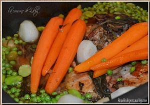 Recette Rouelle de porc aux légumes