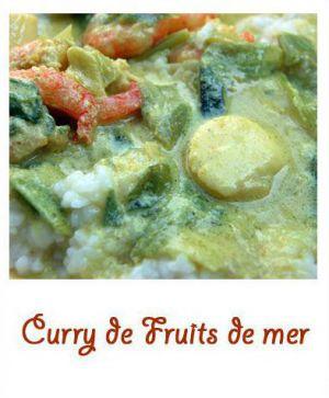 Recette Curry de fruits de mer