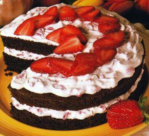 Recette Gateau à la fraise et au chocolat