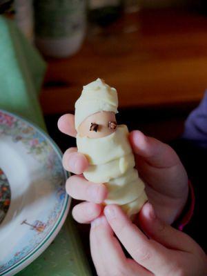 Recette Feuilletés de saucisses momies pour Halloween