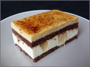 Recette Entremets poire, caramel et chocolat