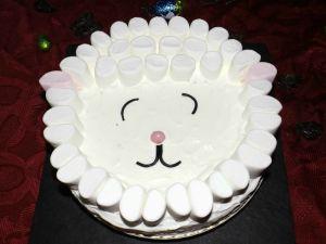 Recette Gâteau moelleux à la vanille ( Mouton de Pâques )