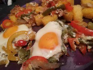 Recette Dès de polenta au chakchouka