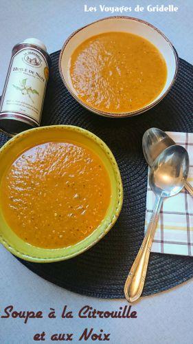 Recette Soupe à la Citrouille et aux Noix