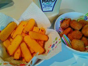 Recette Nuggets de poulet et frites de polenta !