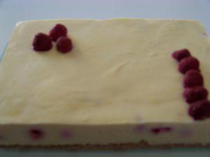 Recette Entremets framboises-chocolat blanc