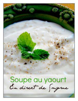 Recette Soupe : au yaourt