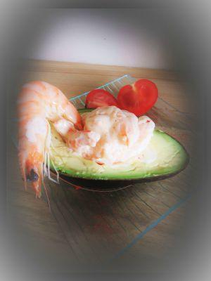 Recette Avocat aux crevettes