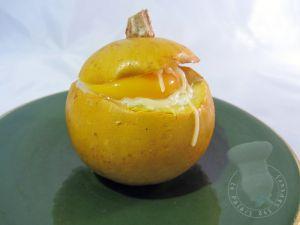 Recette Pomme d'or farcie à la brandade façon oeuf cocotte