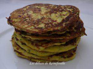 Recette Pancakes de  courgettes