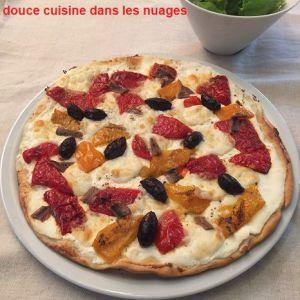 Recette Pizza ricotta, mozzarella, poivrons grillés