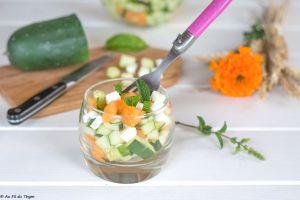 Recette Salade de melon, concombre, feta et menthe (ultra fraîche)