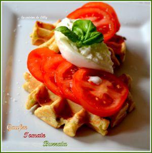 Recette Gaufre à la tomate et burrata