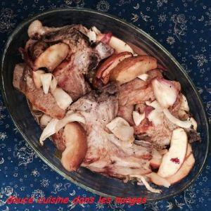 Recette Cotes de porc au cidre, pommes et fenouil