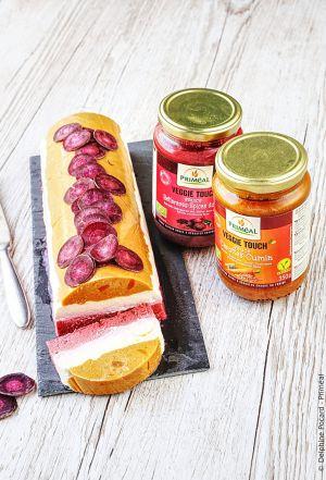 Recette Bûche-terrine crémeuse, betterave et carotte