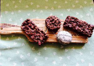 Recette Barre de céréales sans cuisson au chocolat