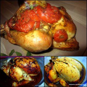 Recette Cuisson du poulet entier (ou cuisses) dans un sachet de cuisson au four