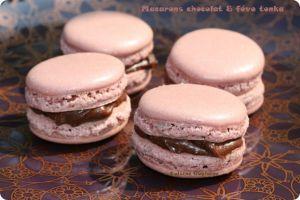 Recette Macarons au chocolat et à la fève tonka