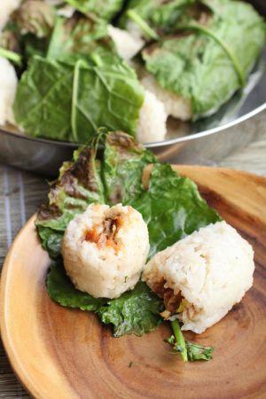 Recette Lalampa: boulettes de riz gluant au thon épicé (Indonésie)