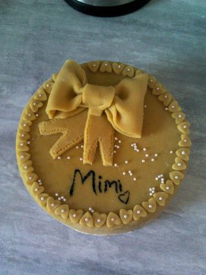Recette Gâteau décor pâte à sucre