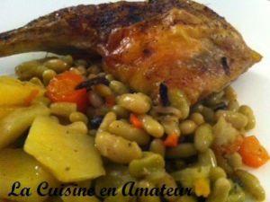 Recette Cuisse de poulet rôtie et légumes